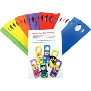Class Pack of 30 Foam Door Hangers, Assorted Colours, with Ideas Leaflet