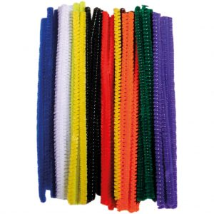 Cotton Pipe Cleaners, 150mm x 4mm, Assorted Colours