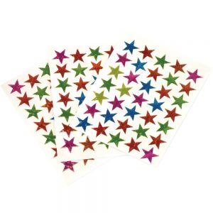 Coloured Stars, Peel & Stick, 20mm, 2100 Pieces