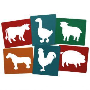 Six Farm Animals Stencils