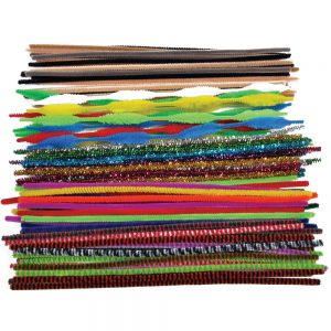 Jumbo Pipe Cleaners, 300mm x 6mm, Assorted Styles & Colours 250