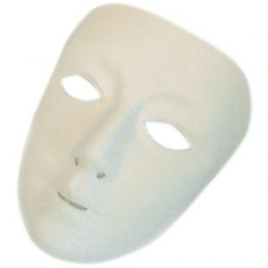 Masks (full face), Biodegradable, White