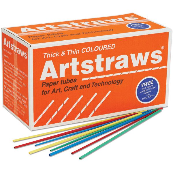 Artstraws School Pack Thin & Thick, Assorted Colours