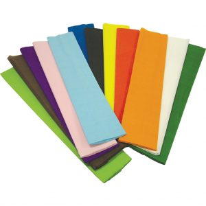 Assorted Crepe Paper 50cm x 3m, Pack of 12
