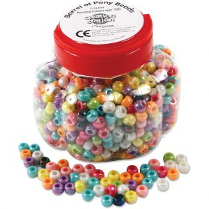 Barrel of Pony Beads, Assorted Colours approx 1000