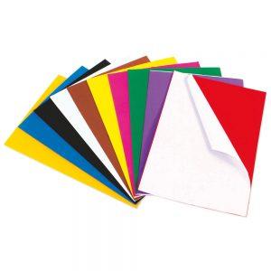 Peel & Stick Craft Foam Sheets, A4 Assorted Colours