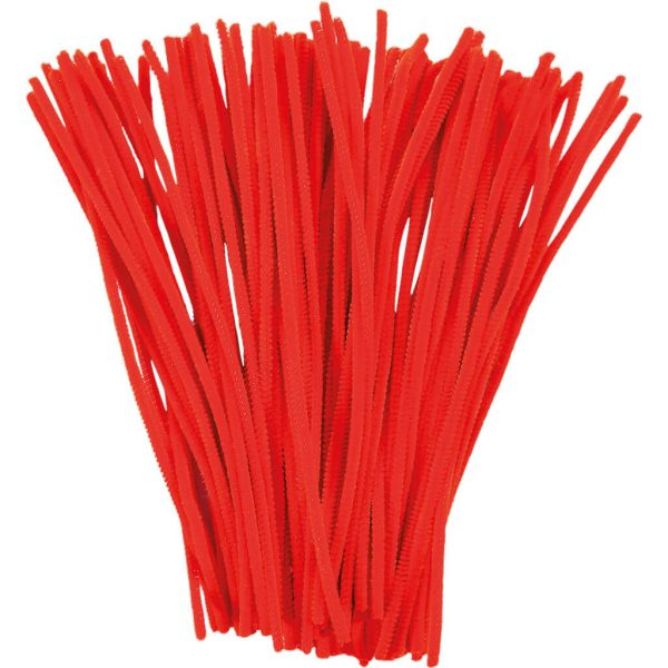 pipe cleaners red
