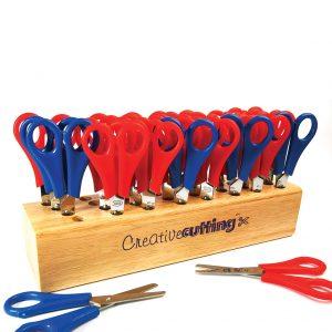 32 Scissors With Wooden Block