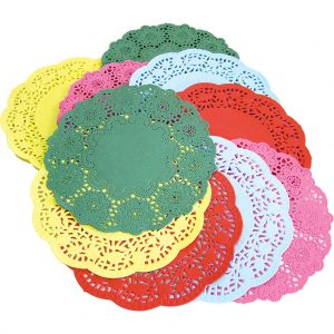 Assorted Colour Doilies - Pack of 120