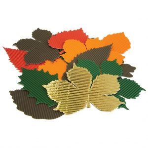 Corrugated Autumn Leaves - Pack of 120